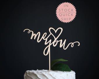 me and you wedding cake topper | wedding cake topper | wood cake topper | love cake topper | rustic cake topper | romantic cake topper