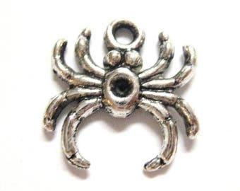 75% OFF - 20pcs Wholesale Spider Charm - Silver Spider Charm - Silver Halloween Charm Bulk Lot - Black Widow Daddy Long Legs Bug Beads E31