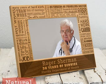 Personalized Retirement Collage Frame - Employee Gift -Retirement Gift - Gifts For Him - Gifts for Her - Corporate Picture Frame