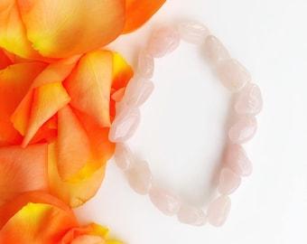 Rose Quartz Gemmy Bracelet Men Women