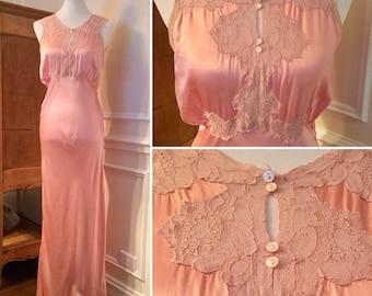 Antique Nightgown - Satin