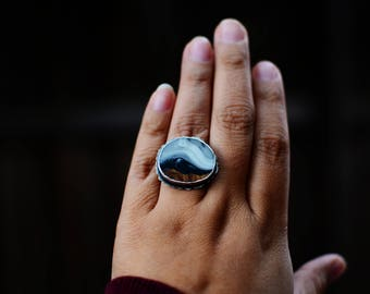 Winter In The Mountains - Sterling Silver Ring