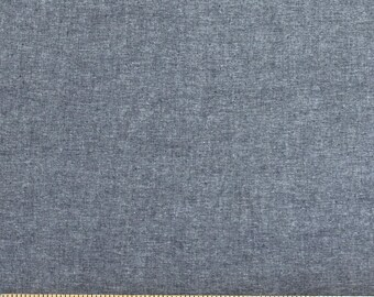 Indigo Blue Medium Weight Chambray, 1 Yard