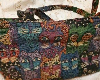 Laurel Burch Cats Handbag soft tapestry