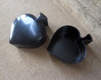Mid Century Spade Box vintage plastic Black Ace of Spades