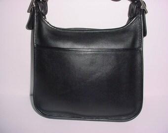Vintage Coach black leather  legacy  Cross body  Shoulder bag .