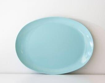 Vintage Mid Century Melmac Aqua Melamine Platter