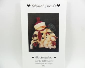 Snowman Sewing Pattern Talented Friends Table Topper by Stroppel The Snowdons
