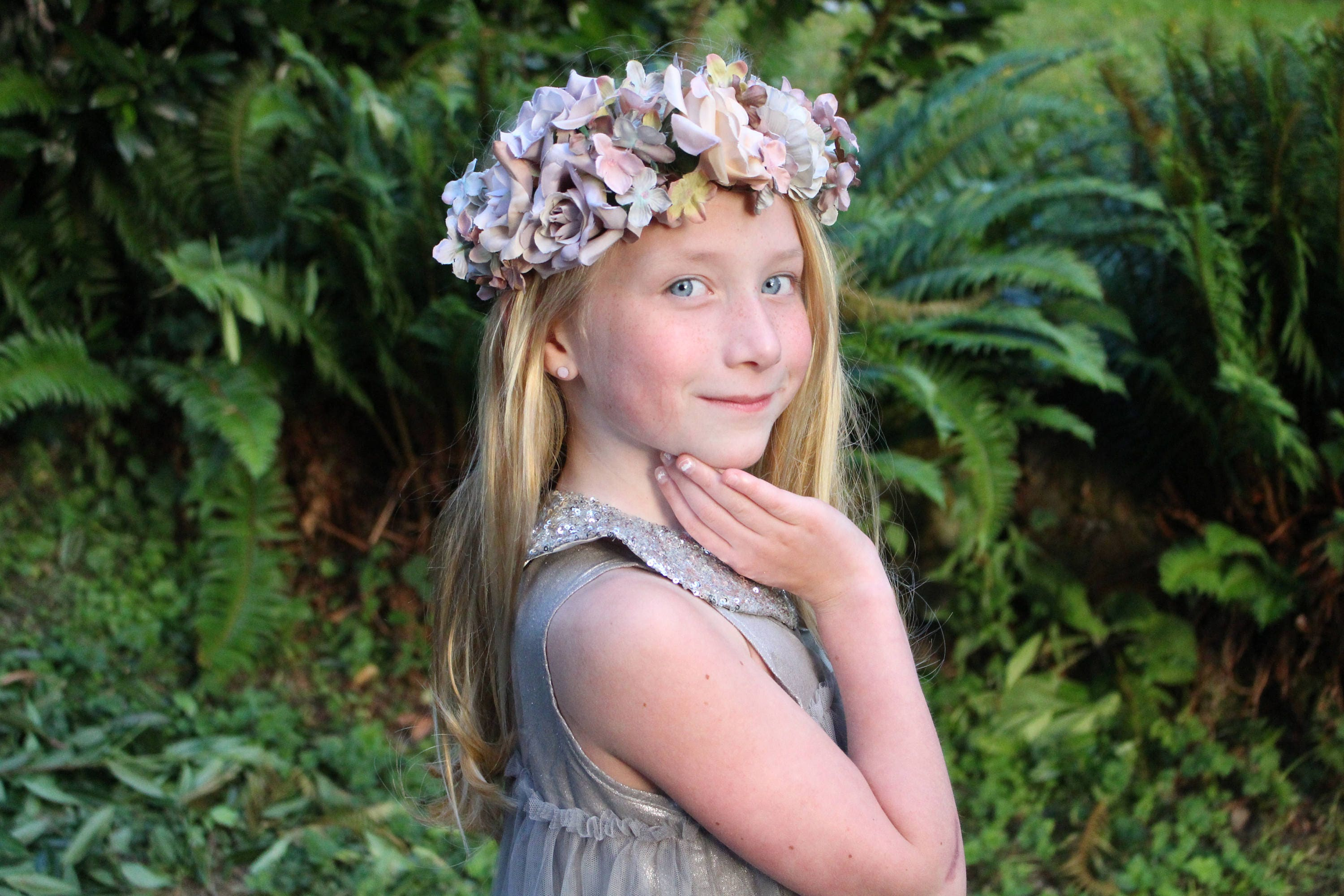 Vintage blue pink ivory flower crown ready to ship vintage blue vintage blue pink ivory flower crown ready to ship vintage blue tieback izmirmasajfo