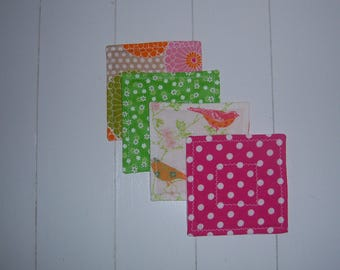 Set of Four Quilted Fabric Coasters