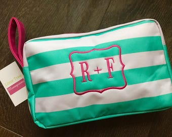Monogram R + F Bag, Cosmetic Bag,  Rodan and Fields