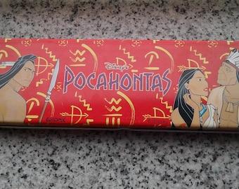 Vintage DISNEY Pencil Case - POCAHONTAS - tin pencil case