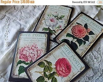 Antique French Inspired Card Floral Blank Greeting Gift Giving All Occasion
