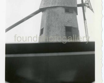 Vintage Photo, Vintage Photo, Old Windmill, Black & White Photo, Old Photo, Snapshot, Travel Photo
