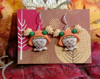 thanksgiving earrings scarecrow earrings fall autumn gifts for her holiday earrings fall color earrings gifts under 25 gifts under 10