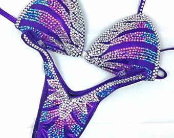 Purple Rain figure/physique competition suit