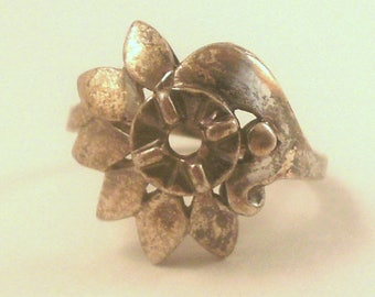 Vintage Sterling Silver Ring Mounting Size 6