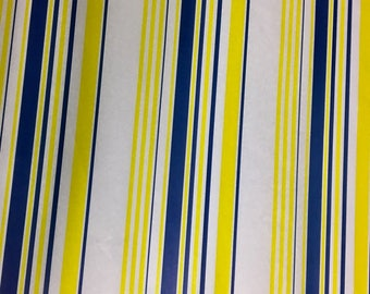 blue and yellow stripped tissue paper 20CT