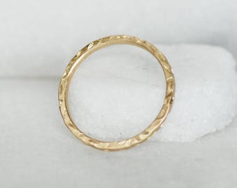 Floating Petals Ring - Square band - Choose 14k or 18k Gold