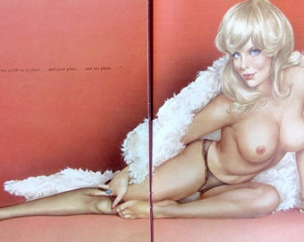 1975 January Birthday Playboy Pinup Girlie Vargas Original