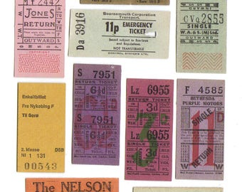 10 LONDON and UK Vintage tickets - Antique TICKET Collection from United Kingdom