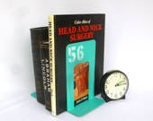 Upcycled AQUA INDUSTRIAL BOOKENDS