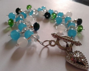 Dangle Bracelet Loaded with Gemstones!! Beauty and Healing!!