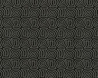 Vanessa Vargas Wilson Fabric Collection - Kinfolk - Spiral Maze Black