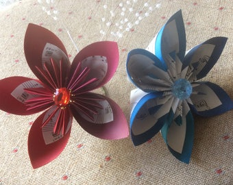 Large Origami Flowers Freestanding 2 included Table Decorations, Place settings, table numbers