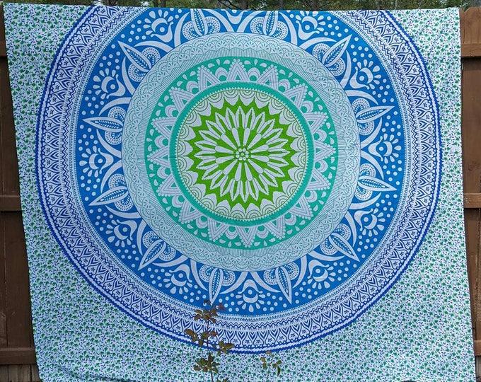 Colorful Mandala Tapestry Boho Hippie Tapestry Wall Hanging Beach Blanket Yoga Mat Meditation Mat Dorm Decor Music Festival Tapestry