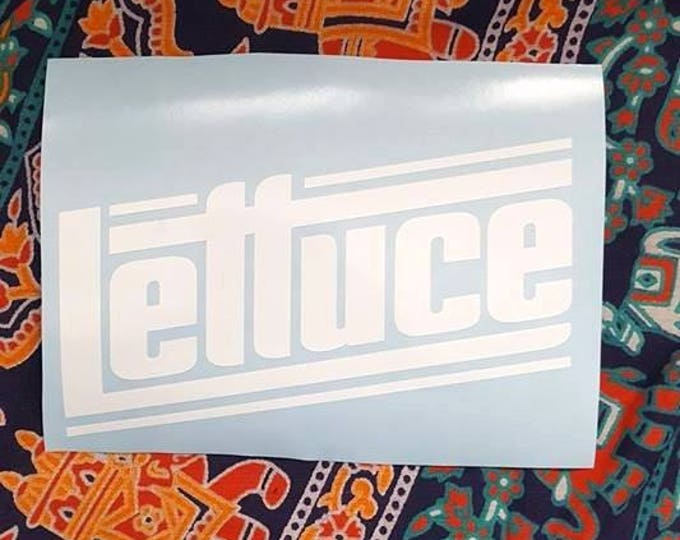 Lettuce Vinyl Graphic Sticker Decal Jam Band Stickers Hulaween Music Festival Gear