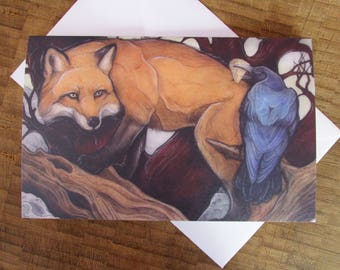Fox and Crow Greeting Card