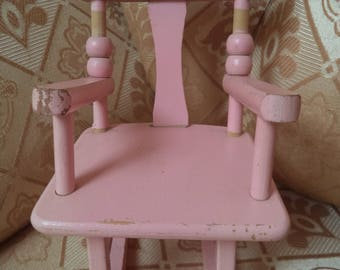 Authentic Pink  Ginny Doll Rocking Chair (Strombecker Style)