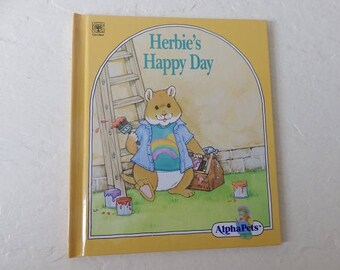 Children's Book: Herbie's Happy Day. A Story About Positive Thinking. Hardcover, 1990. Near New.