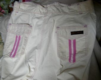 Vintage 70s Off White Jeans by Fancy Props