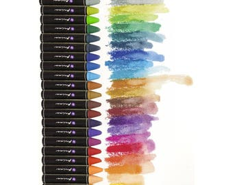 Prima Soft Oil Pastels, 24 Pack - Prima Marketing Iron Orchid Designs Water Soluble Oil Pastels - 3.25""