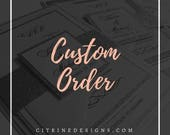 Custom Order for Cher:  Starfish Wedding Fan Programs