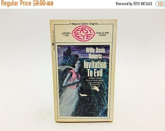 SUMMER BLOWOUT Vintage Gothic Romance Book Invitation to Evil by Willo Davis Roberts 1970 Paperback