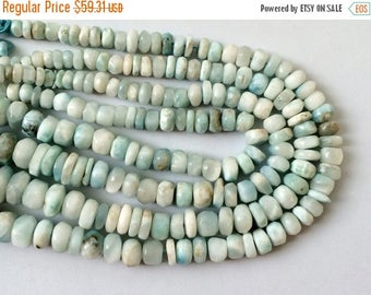ON SALE 55% Larimar Beads, Larimar Faceted Rondelle, Original Larima, Larimar Necklace, 6mm - 14mm, 4 Inch Strand
