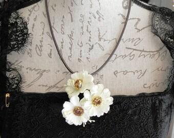 Floral Necklace, Gothic Lolita, Otome, Casual Lolita, Spring Summer neckpiece, Morigirl, Dolly Kei