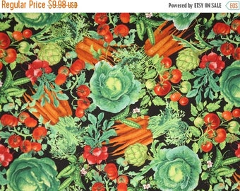 ON SALE Colorful Allover Vegetable Print Pure Cotton Fabric-By the Yard