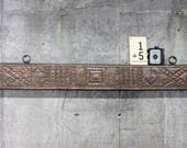 Wall Shelf Antique Hand Carved Indian Door Header Hanging Reclaimed Wood Art Tribal Pattern Moroccan Decor Turkish Interior