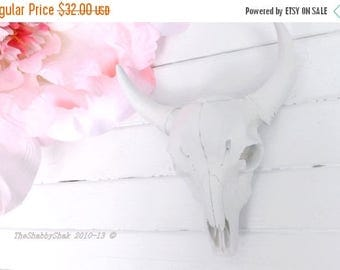 ON SALE White Longhorn Skull~Anthropologie~Texas Longhorn