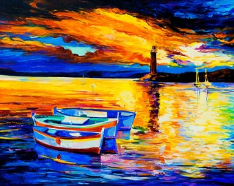 Oil Painting Original Painting Abstract Painting Abstract Art Canvas Art Large Art Wall Art Canvas Painting Large Painting Sunset
