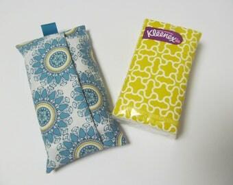 Tissue Case/Turquoise Flower