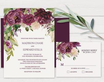 Diy wine wedding invitations