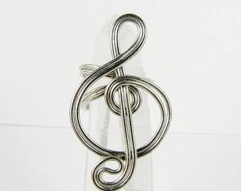 SALE - Ear Cuff - Treble Clef - Silver, Gold, Purple, Brass, Magenta, Red, Green or Copper