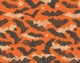 Gone Batty Halloween Fabric Blend Fabrics Maude Asbury One Yard