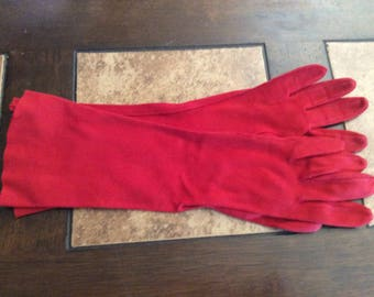 Vintage Red Gloves