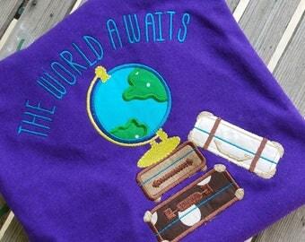 The world awaits school teacher shirt inspirational shirt